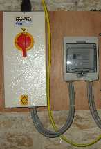 picture of an installed  main electrical isolator and RCD unit